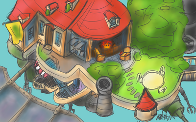 Day 13 - My Fantasy Castle by bookwormy606