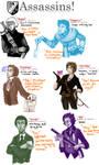 various assassins, etc