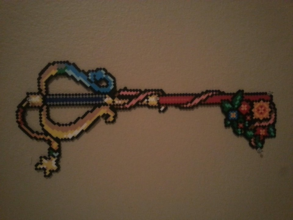 Kingdom Hearts Keyblade- Perler Beads by kittenlovee on DeviantArt