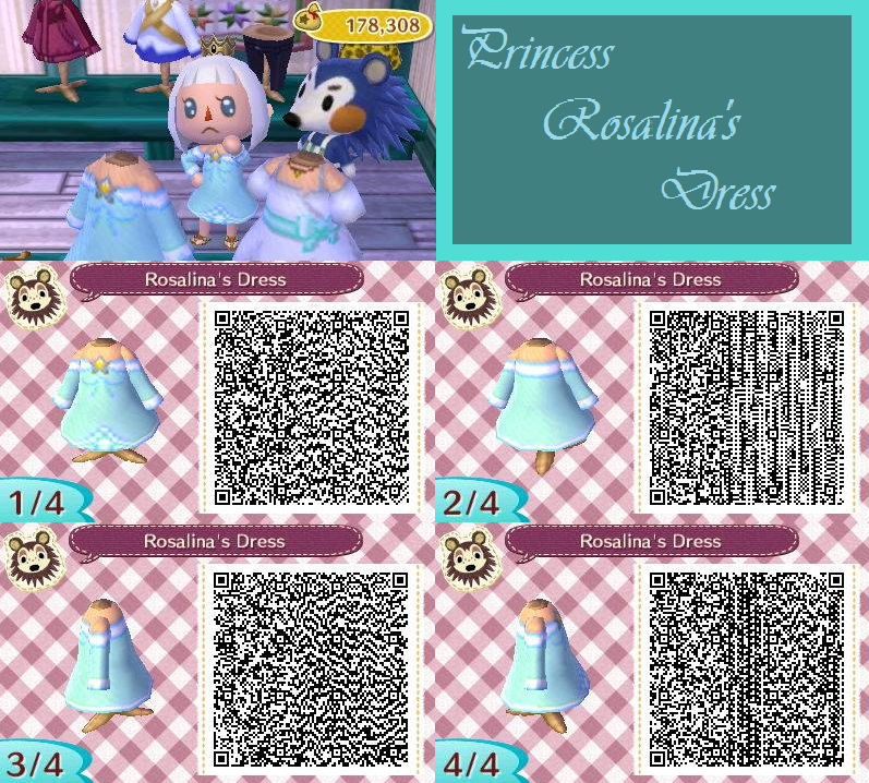 Animal Crossing New Leaf Qr Princess Rosalina By