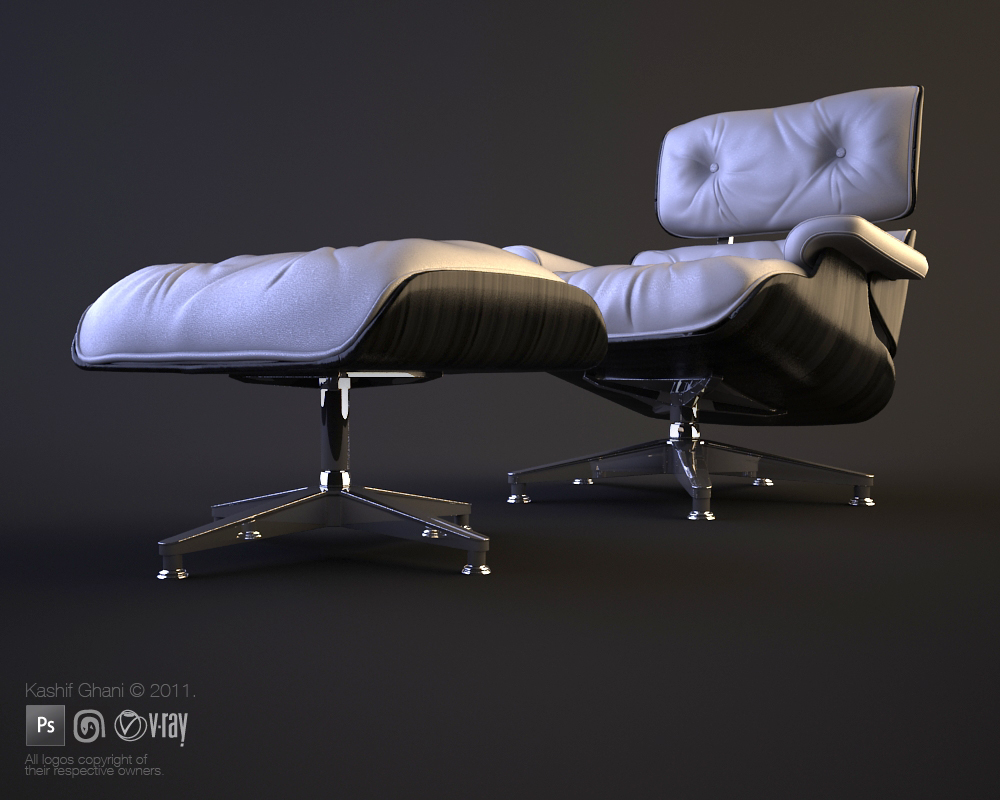eames lounge chair by kashghan on deviantart