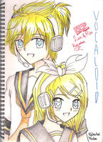 Vocaloid-Len and Rin Kagamine by AnImAtEd-MeDoW