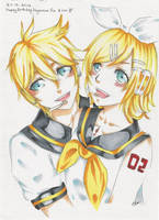 27.12.2014 Happy Birthday Kagamine's! by AnImAtEd-MeDoW