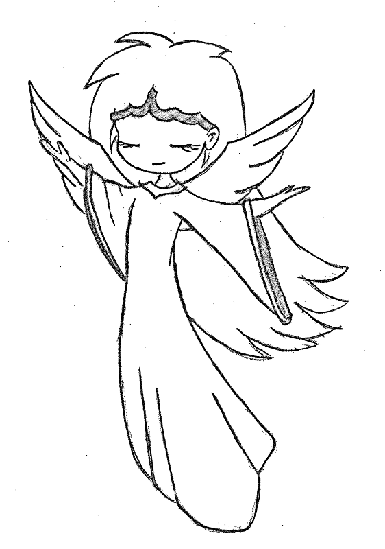 how to draw a chibi angel