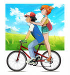 Bike Ride - AshxMisty - Pokeshipping by Neica-92