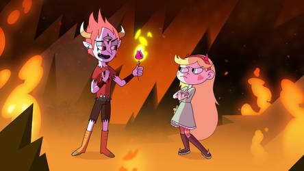 Star Butterfly and Tom Lucitor by GanstFeveral
