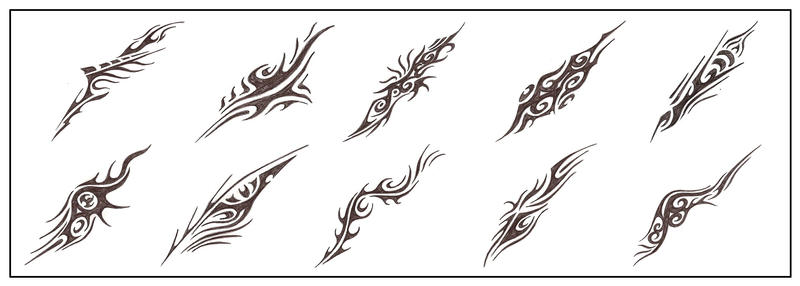 Quick tribal designs by tux20
