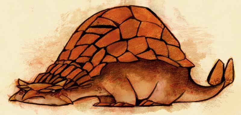 Ankylosaurus by betsybauer
