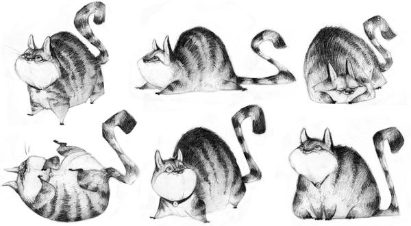 Fat Cat by betsybauer