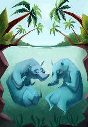 Hippo Love by betsybauer