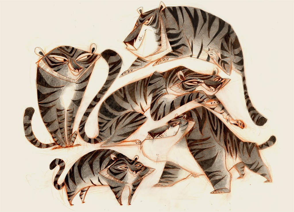 Tigers by betsybauer