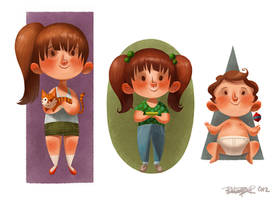 The 3 kids by betsybauer