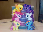Chibi Perler Bead Ponies: The Mane Six by Perler-Pony