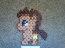 Chibi Perler Bead Ponies: Doctor Whooves by Perler-Pony