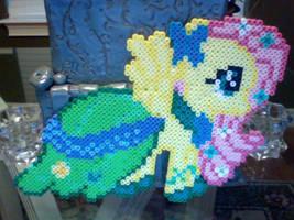 Large Perler Bead Art: Gala Dress Fluttershy by Perler-Pony