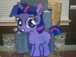 Huge Perler Bead Filly: Twilight Sparkle