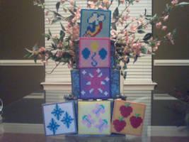 My Little Pony Perler Cutie Mark Coasters by Perler-Pony