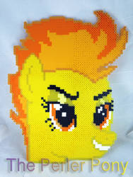 ONE OF A KIND My Little Pony Perler Spitefire Head by Perler-Pony