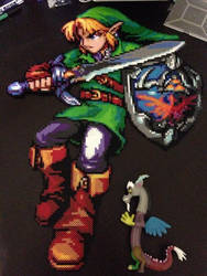 Legend of Zelda Large Link Perler by Perler-Pony