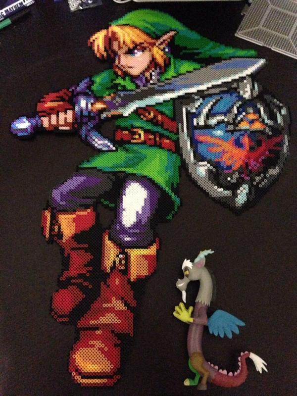 Legend of Zelda Large Link Perler by Perler-Pony