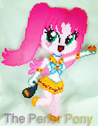 ONE OF A KIND Perler Fluffle Puff as Sailor Taco by Perler-Pony