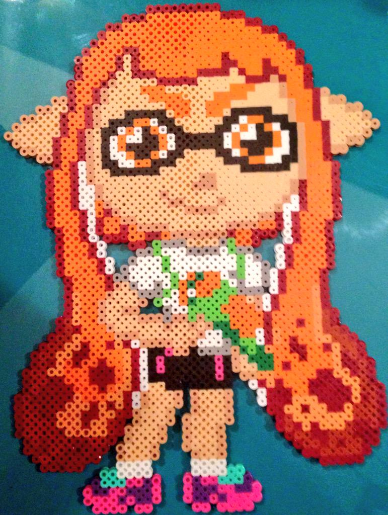 The Perler Pony Chibi Splatoon Girl by Perler-Pony