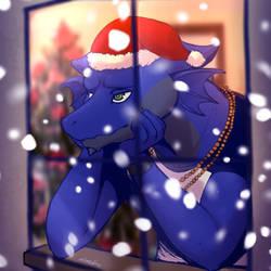 Blue Christmas By Atlas White by sokesamurai