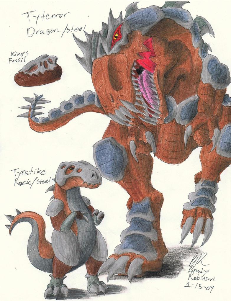 Fakemon, Tyratike n' Tyterror by RavarokJudge