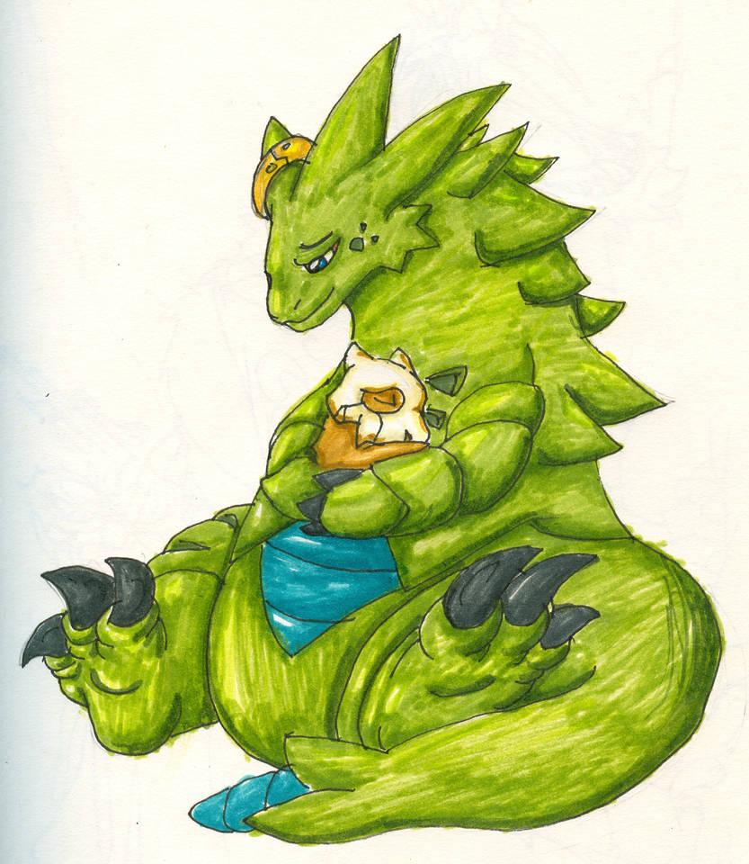 Tyranitar and Cubone