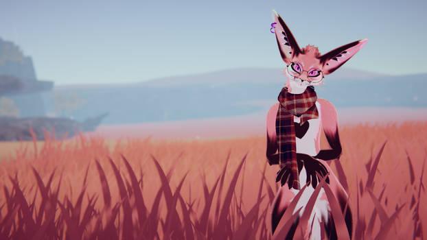Pink in a Field