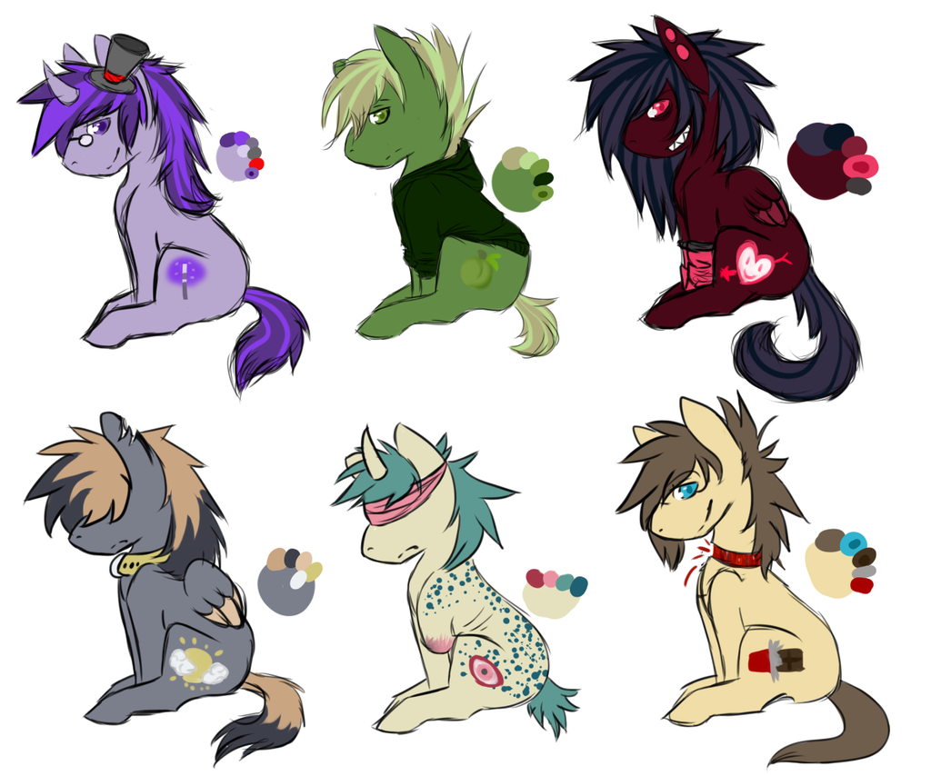 FREE Pony Adopts CLOSED by InfectedZombieX