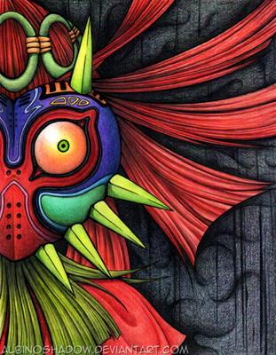 Mask of Majora by albinoshadow