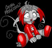 Praedius the Pixel Chibi by albinoshadow
