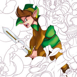 Nintendo Tribute Preview no.4: Link by J2Dstar