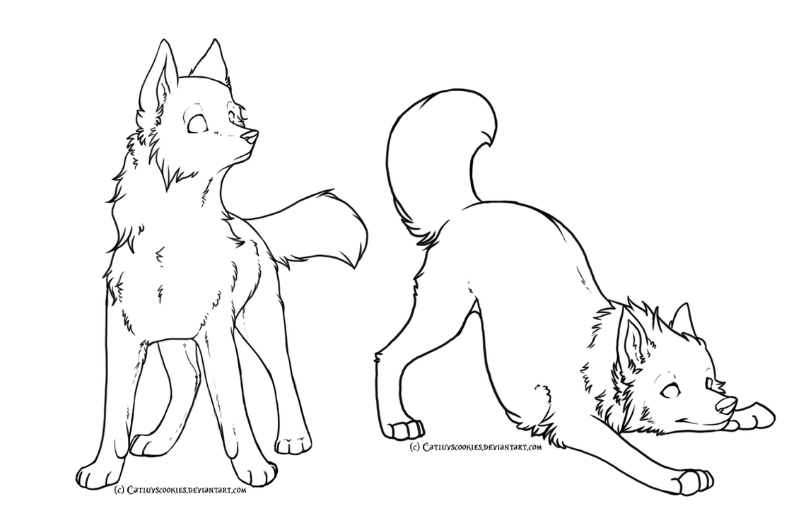 Free Wolf Linearts By Catluvscookies On Deviantart-1754