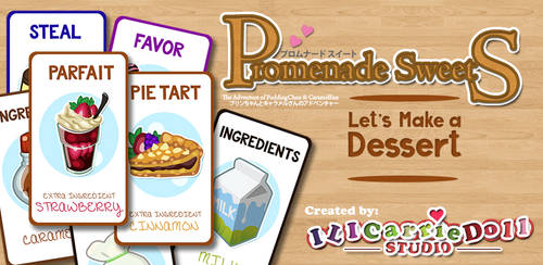 Let's Make a Dessert card game by ILICarrieDoll