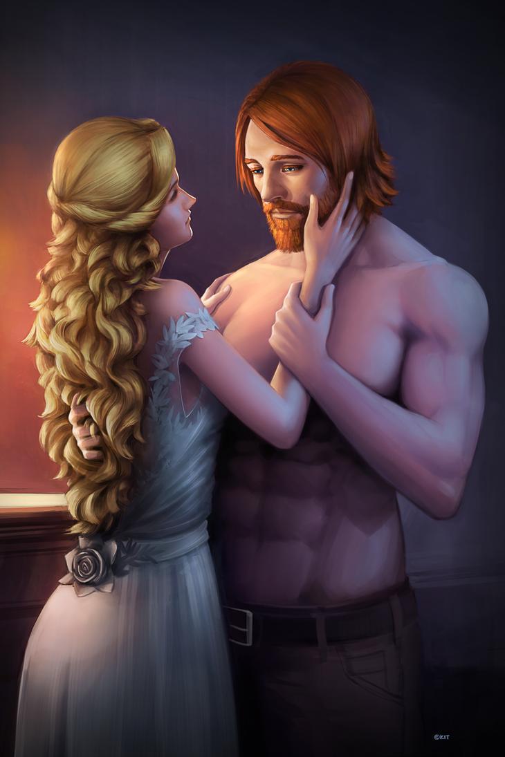 Commission - Marceline and Abelard by Kit-Ho