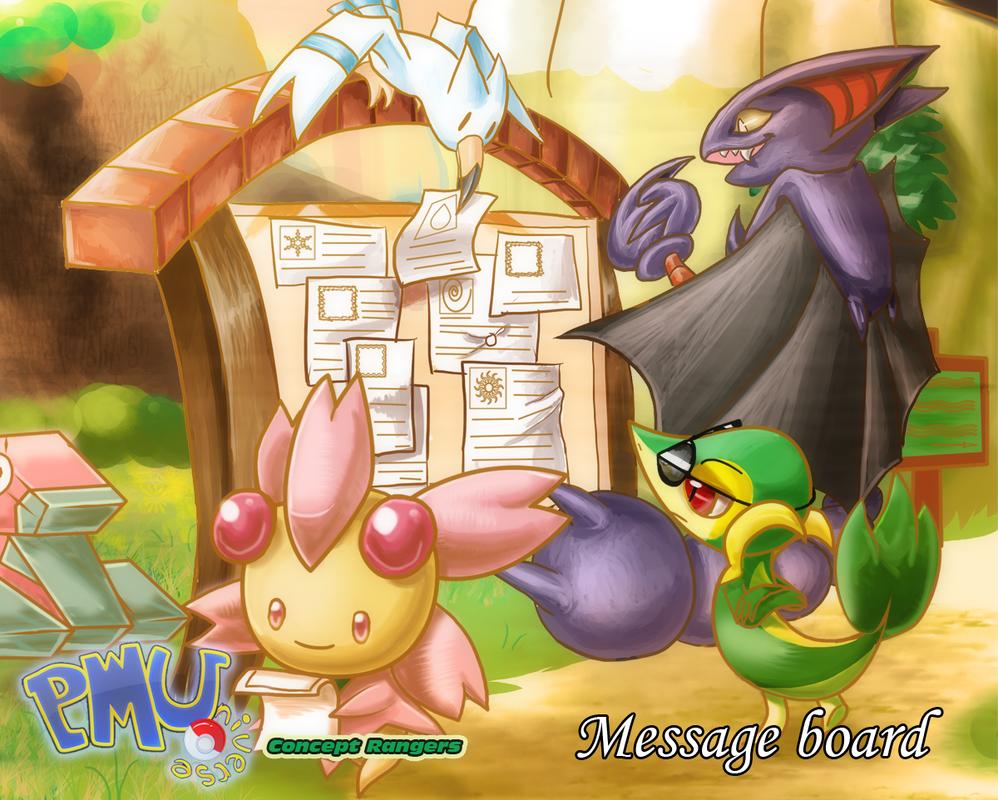 Concept Rangers: Message Board by Tisserovehicks