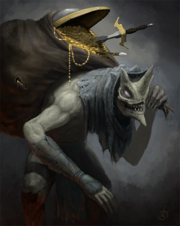 Treasure Goblin by NickDeSpain