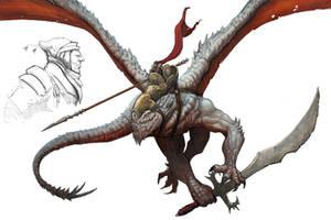 Dragon rider by NickDeSpain