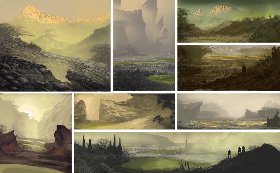 Sulfer Environment sketches by NickDeSpain
