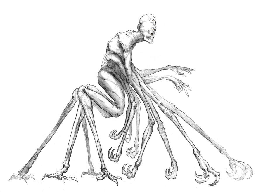 Ten arm sketch by NickDeSpain
