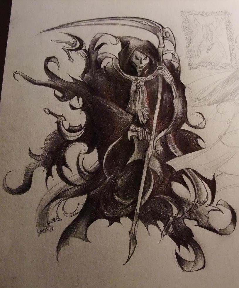 Grim Reaper Drawings In Pencil Name