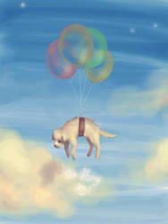 Puppy in the Skies by Nora-Cintra