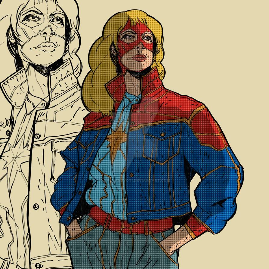 Captain Marvel by kalyanjyoti