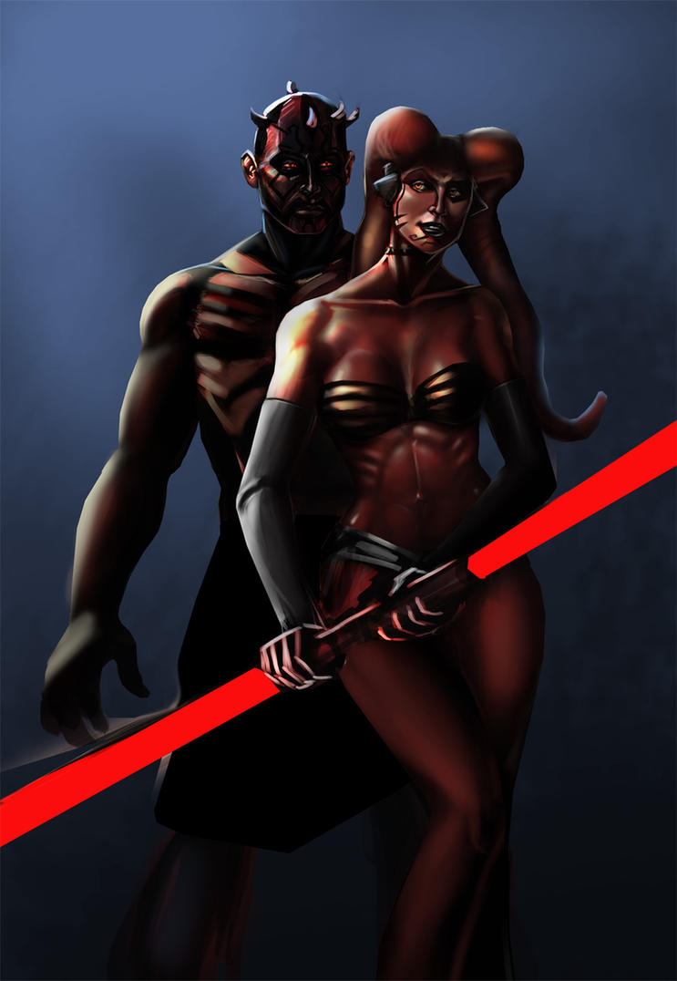 Darth Maul and Darth Talon (Unfinished) by jameslink