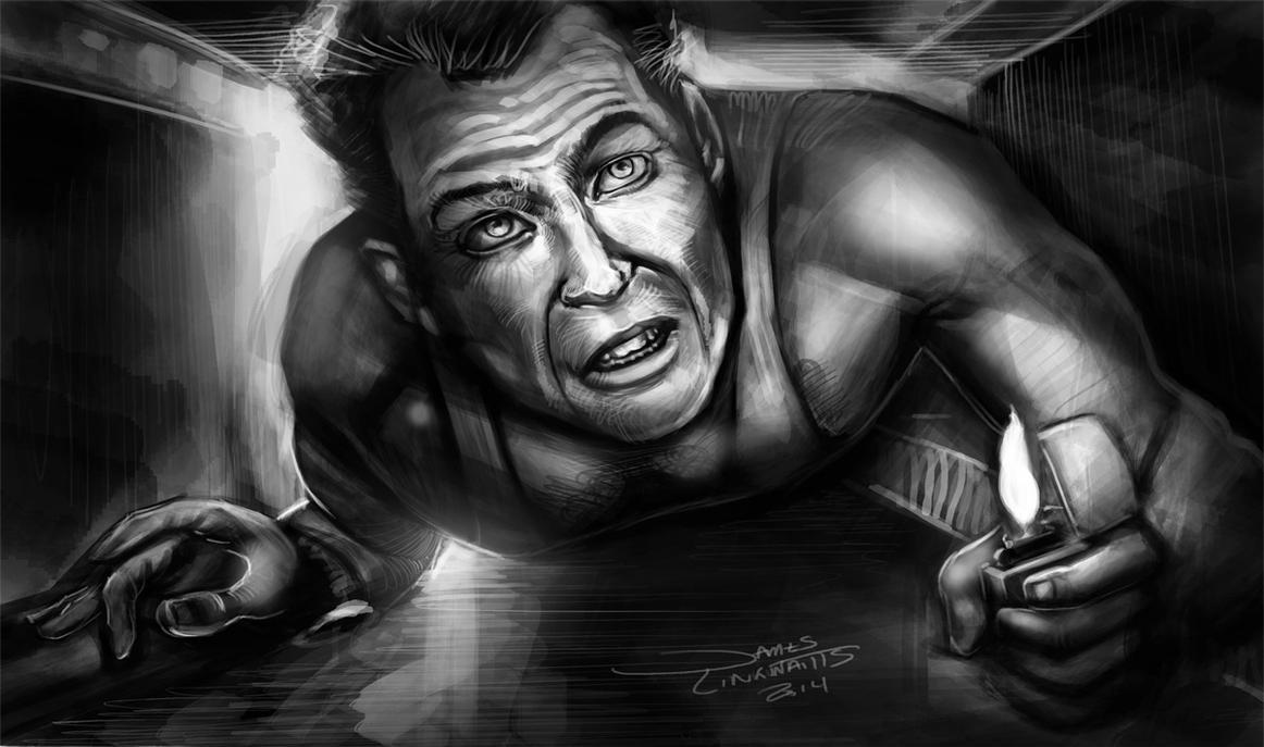 John McClane (Daily Sketch Challenge) by jameslink
