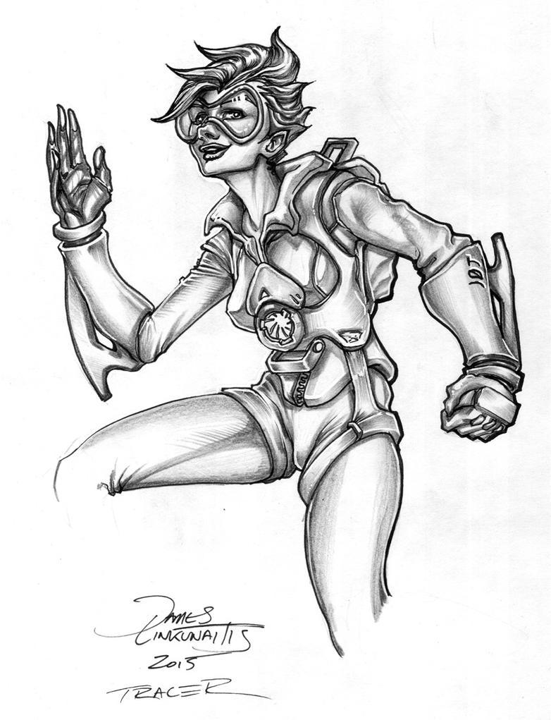 Tracer (Overwatch) by jameslink