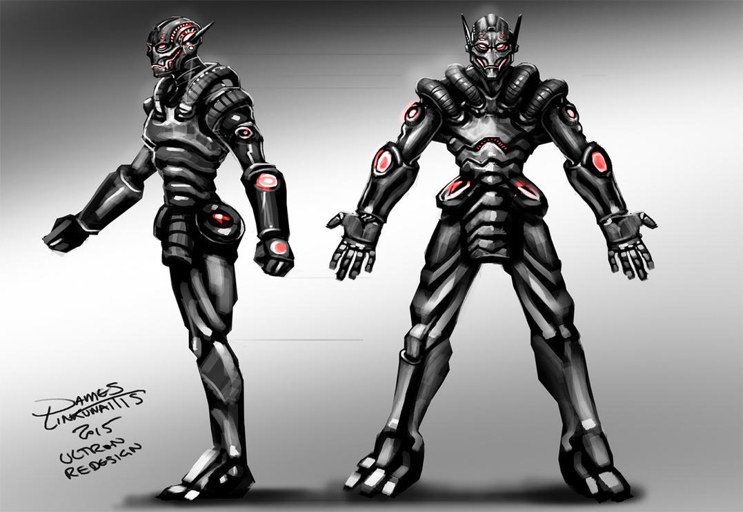 Ultron (Avengers) Redesign - Weekend Challenge by jameslink