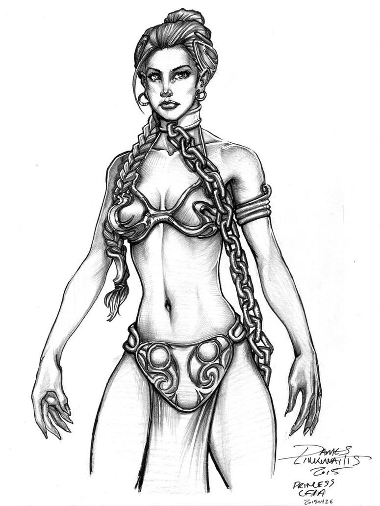 Princess Leia - Slave Outfit (Star Wars) by jameslink